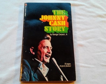 "Vintage 70's Music Paperback, ""The Johnny Cash Story"" by George Carpozi, Includes 16 Pages of Photos, 1970."