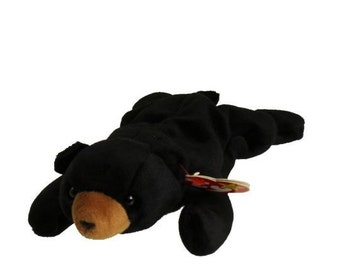 Ty Vintage Beanie Baby - Retired - Blackie Bear - 1993 - Mint Condition