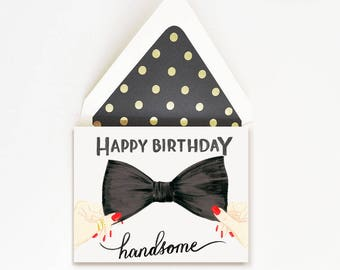 Happy Birthday Handsome Bow Tie