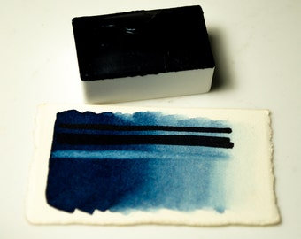 Full Pan Prussian Blue Handmade Artist Watercolour Paint Schmincke Pigment