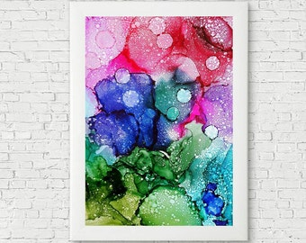 Colorful abstract painting original artwork modern art