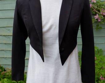 Womens UK 6 , US 2 Upcycled Black tailcoat zatanna cosplay