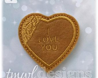 """Orphan Broken Heart Locket Feltie Digital Design File - 1.75"""""""