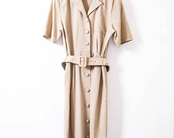 Vintage Dress in Beige