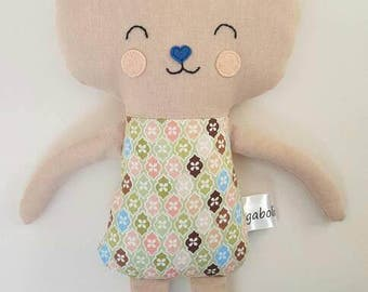 Boy bunny-Fabric rabbit- For Easter-Rag doll -Plush- Gift for babies-Sleeping toy-Softy-Comforter-First present-Birthday-Keepsake
