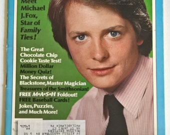 Dynamite Magazine Vintage 1980's Kids Publication --- Pop Culture Book Rad Cool Collectable Paper Ephemera --- Michael J. Fox Family Ties
