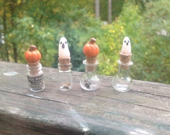 OOAK! Halloween Miniature Dollhouse Potion Bottles.