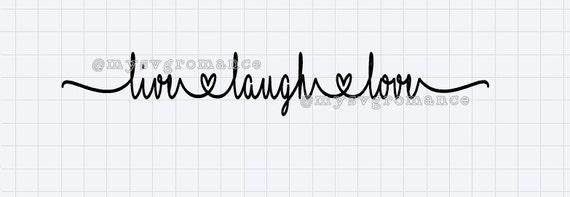 Download Live Laugh Love SVG Cutting File Cricut Silhouette