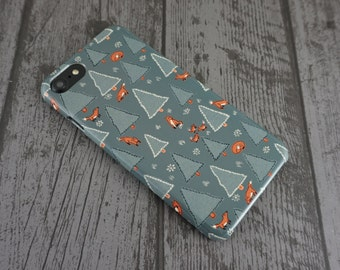 Renard forêt mignon Woodland Animal à motifs iPhone 7 cas