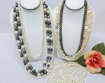 Genuine Pearl bead Necklace Lot For Wear Resell Or Crafting