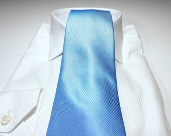 Ice Blue Tonal Solid Tie