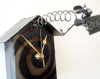Mouse Cuckoo Clock with Mouse Pendulum