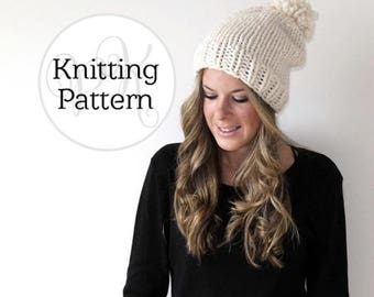 Knitting Pattern Pokomoke Hat Instant Download