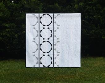 Half Circle Mirror - digital quilt pattern - a modern paper pieced pattern - lap / throw size