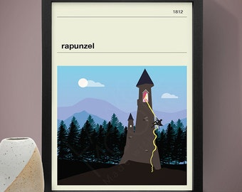 Rapunzel Poster - Fairy Tale Poster, Fairy Tale Print