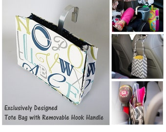 toy caddy w hook handle attached strap car organizer car accessories travel