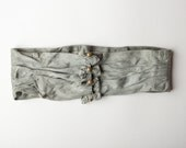 AS- IS Victorian belt, Antique blue sash, Waist belt, Blue cummerbund, Unique bridal belt, Victorian bridal sash