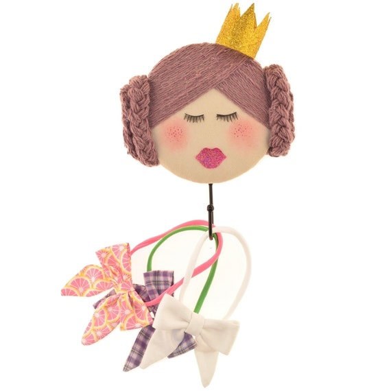 Kids wall hook princess crown decorative coat hook headband - Kids decorative wall hooks ...