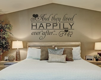 Bedroom Wall Decor - Custom - Wall Decor - Happily Ever After Wall Decal
