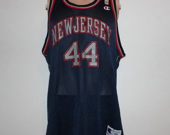 Vintage New Jersey Nets Keith Van Horn Champion NBA Jersey 48