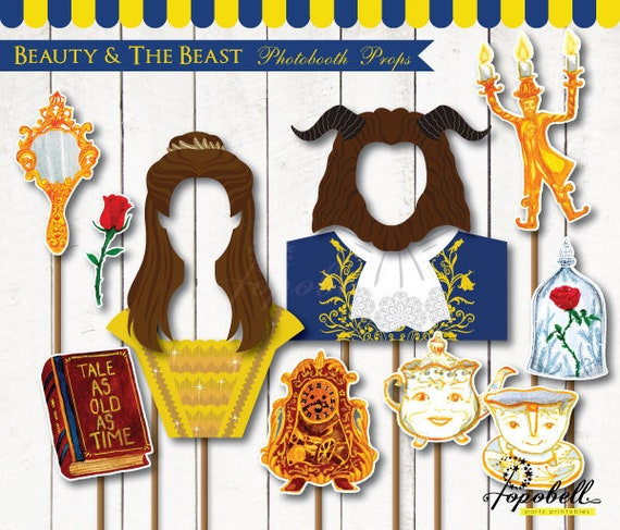 Beauty And The Beast Novel Pdf: Beauty And The Beast Props Digital Printable For 2017