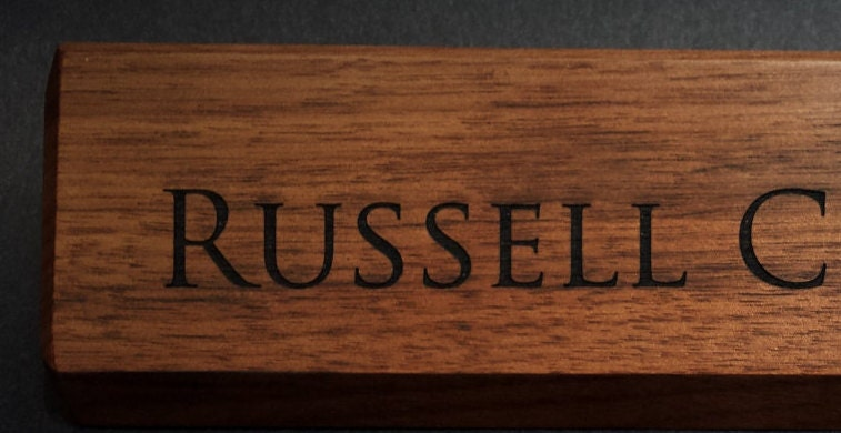 3 Personalized Wooden Desk Name Plates 10 by