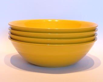 1960s Genuine Melaware Melamine Cereal Bowls. Snack Bowls. Soup Bowls. Dessert Dishes.
