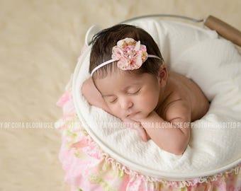 Chiffon Flower Headband,  Pink Headband, Pink Flower,  Flower Headband, Chiffon Flower, Baby Headband, Newborn Headband, Photography Prop