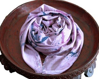 Lac dye Cotton Stole (TX-082-04)