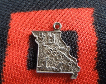 Sterling Missouri State Charm Sterling Silver Missouri Map Charm for Bracelet from Charmhuntress 04298