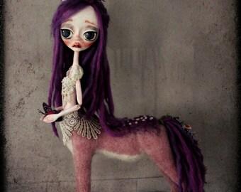 Serenity-Deer girl-Fantasy creature Ooak art doll-Deer girl-forest creture-doll-ooak Art doll- OOAK- felt sculpture
