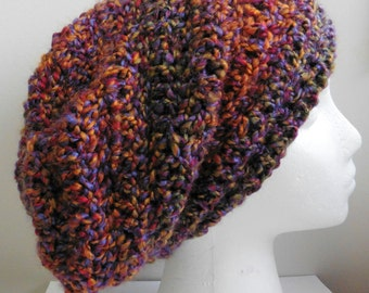 Burgundy Slouchy Burgundy Slouchy Hat Purple Slouchy Orange Slouchy Orange Slouchy Hat Multi-Colored Slouchy Crocheted Slouchy