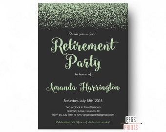 retirement party invitation for men or women  printable, Party invitations