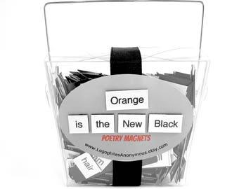Orange Is The New Black Poetry Magnet Set - OITNB Refrigerator Poetry Word Magnets - Free Gift Wrap
