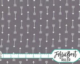 GRAY ARROW Fabric by the Yard Fat Quarter Modern Tribal Fabric Grey Arrows Fabric 100% Cotton Quilting Fabric Apparel Fabric Yardage a4-30