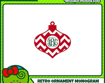 Christmas SVG Christmas Monogram SVG Retro Christmas Commercial Free Cricut Files Silhouette Files Digital Cut Files svg cut files