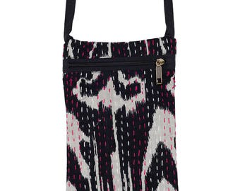 IKAT Passport Bag - Black
