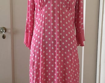 Vintage Pink Polka Dot Midi Dress - Ships October 2017