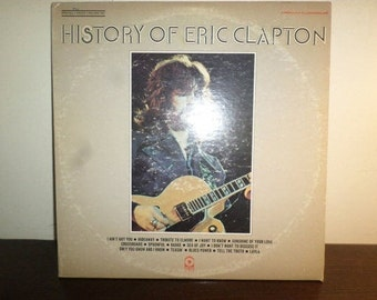 Vintage 1972 Vinyl LP Record History of Eric Clapton Two Record Set Very Good Condition 8309
