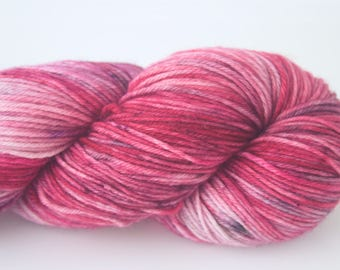 """Peachface Fingering """"Does Anybody Know How to Hold My Heart?"""" Hand Dyed Yarn"""