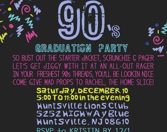 Printable 90s Theme Party Invitation