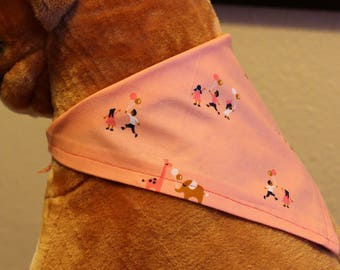 Pink dog tie-on bandana