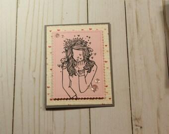 Greeting Card / Handmade / Blank Inside Greeting Card / Stamped Greeting Card / Greeting Card / Blank Card