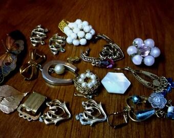 vintage charms findings destash ~ lot of vintage findings