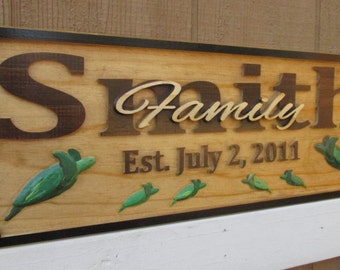 50th Anniversary Gifts for Mom Custom Wood Sign Anniversary Gift Last Name Establish Sign Nautical Name Sign Personalized Family Name Signs