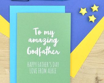 Godfather Father's day card - card for Godfather - Fathers day card for Godfather
