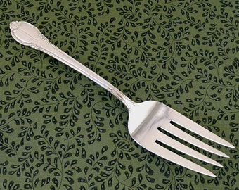 VG Large Meat or Salad Serving Fork REMEMBRANCE 1847 Rogers Bros Vintage 1948 Silverplate Silver Plate Flatware Silverware