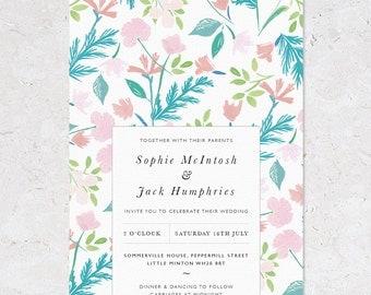 Summer Meadow Wedding Invites