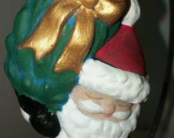 Santa Ornament with Christmas Tree
