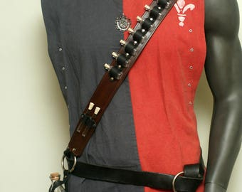 Small Dark Brown Steampunk Alchemist Bandolier